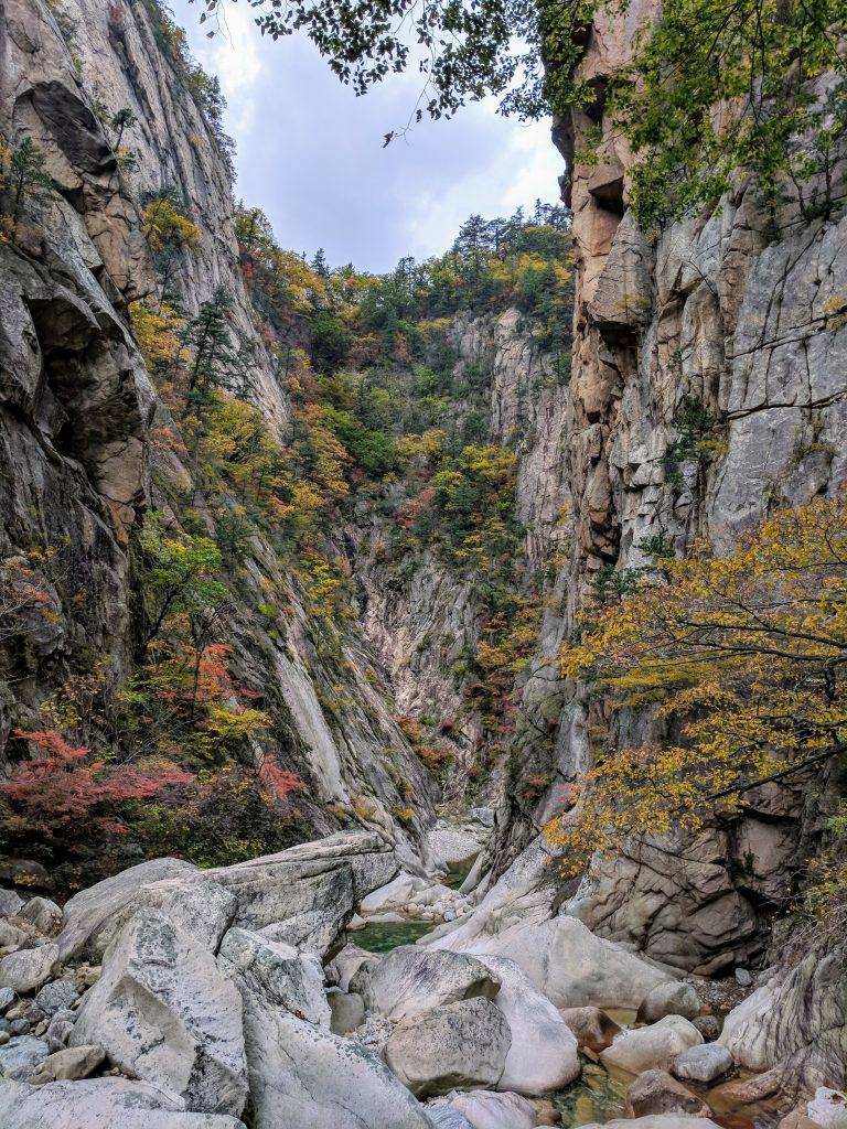 Gorge in Seoraksan National Park, South Korea
