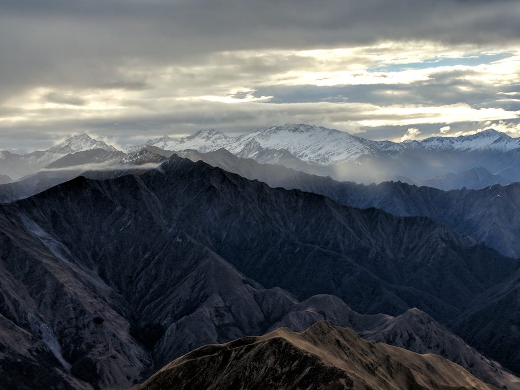View roughly north from the summit of Ben Lomond (1748m), Queenstown