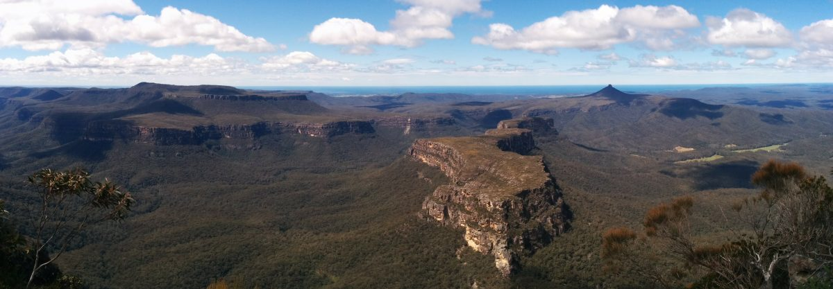 Panorama from The Castle, Morton National Park, NSW