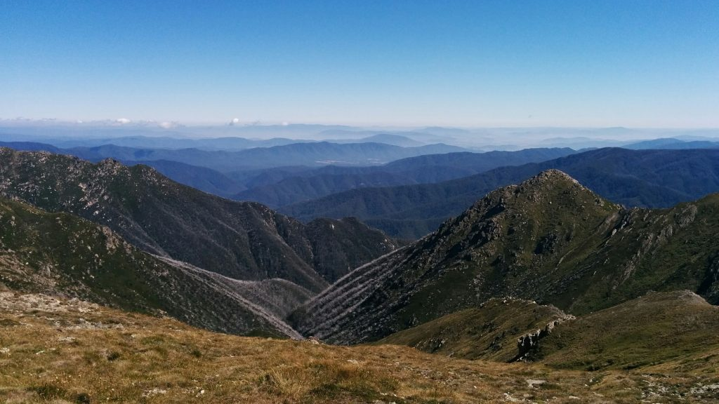 View from near Carruthers Peak (2145m) on the Main Range Track, Kosciuszko National Park