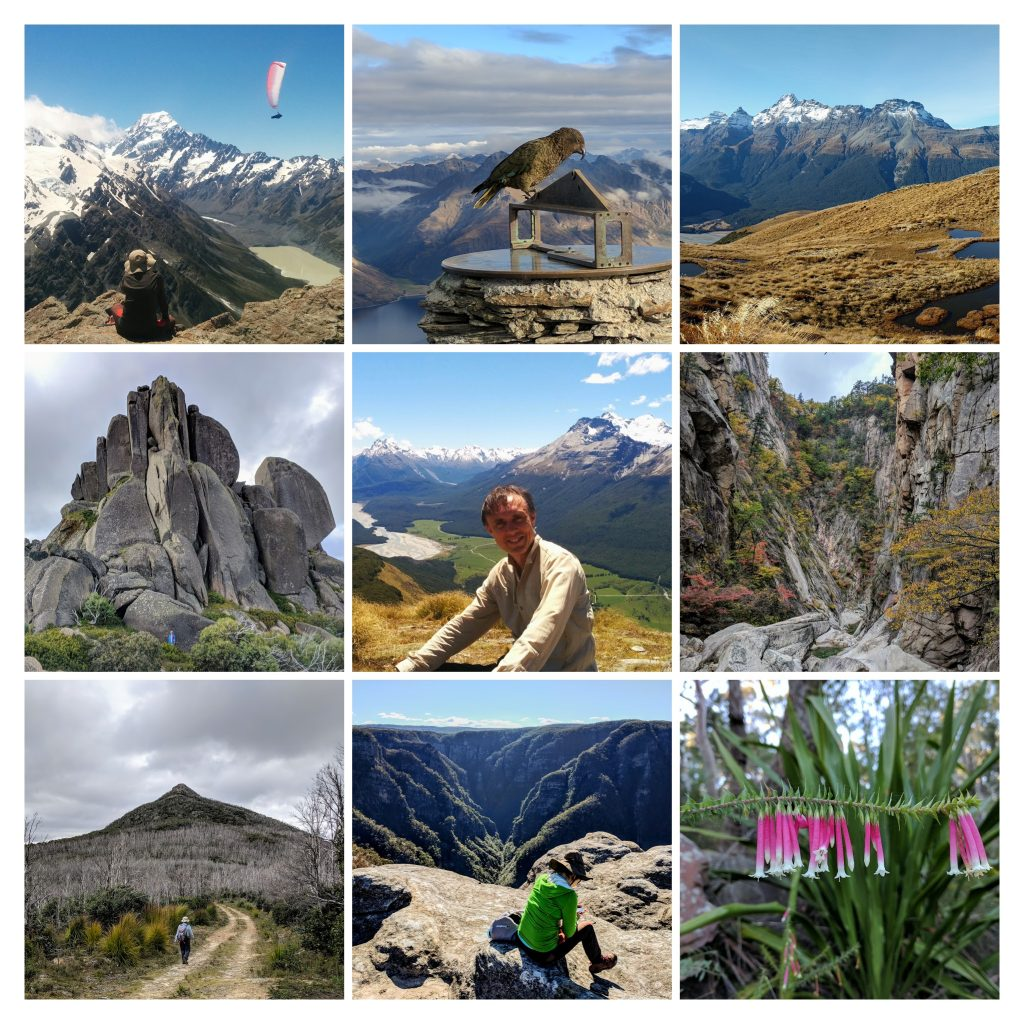Hiking Scenery Collage