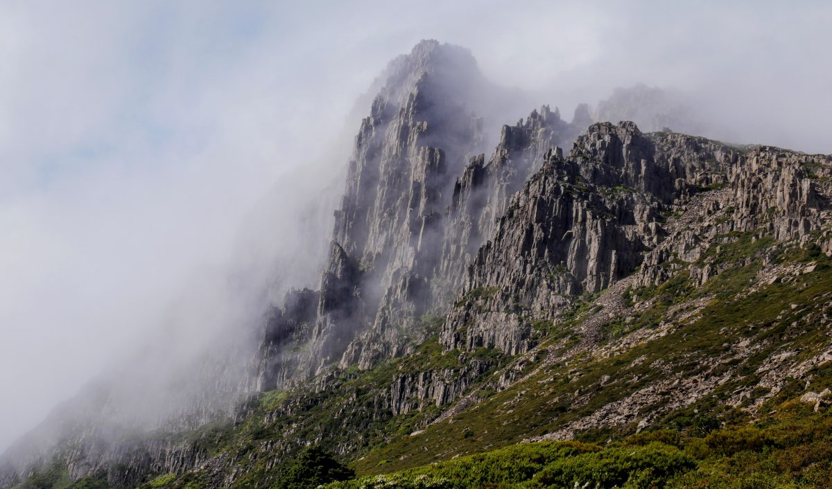 Barn Bluff ascent, Cradle Mountain-Lake St Clair National Park, Tasmania