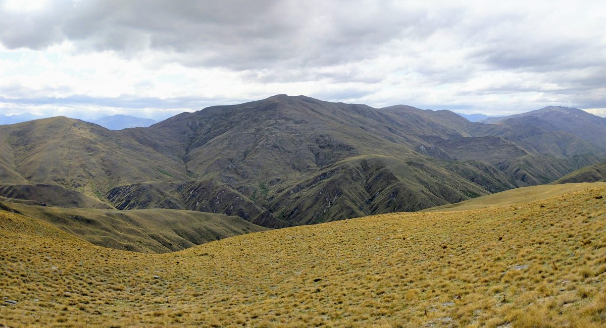 Rock Peak from Crown Saddle, Pisa Conservation Area, Otago NZ