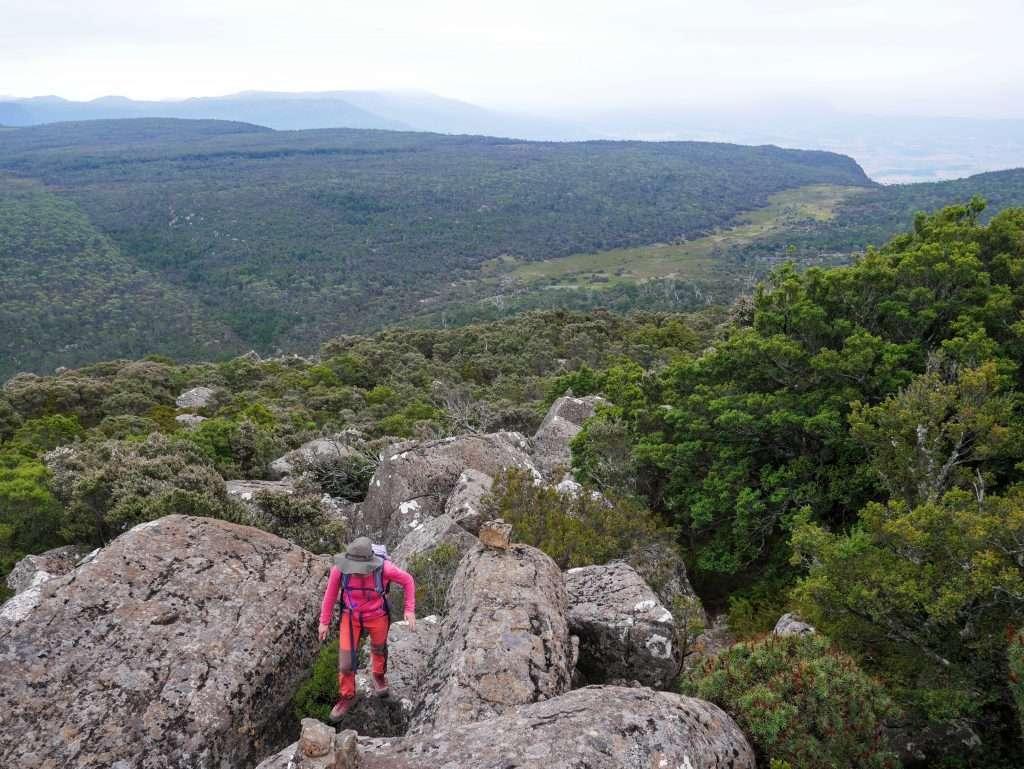 Mother Cummings Peak ascent, Tasmania