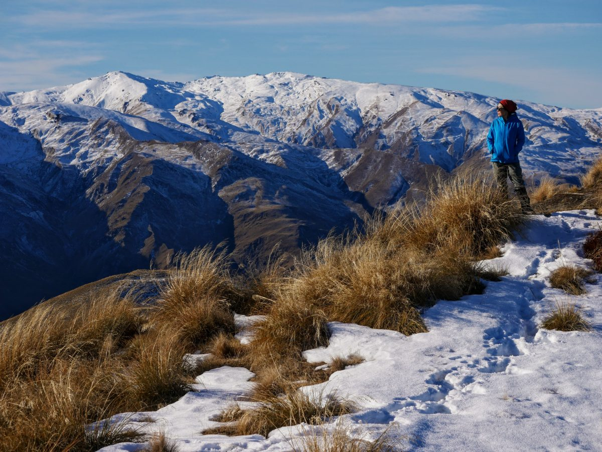 Brow Peak via Big Hill Saddle (winter), near Arrowtown NZ
