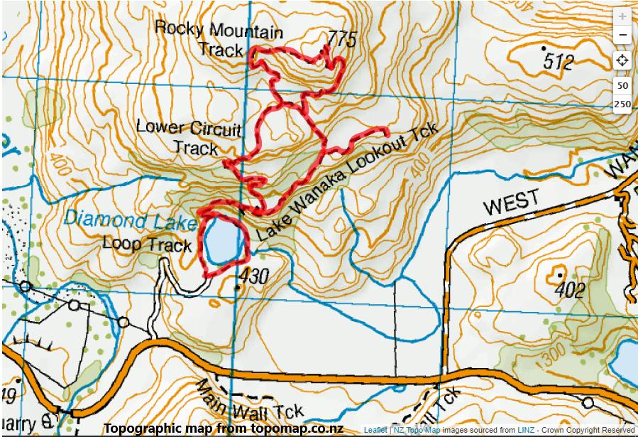 Rocky Mountain-Diamond Lake Circuit, near Wanaka