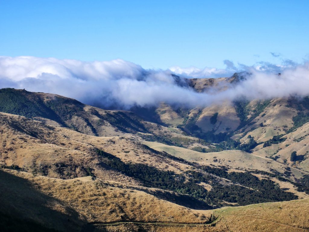 Mt Bradley from Gebbies Pass, Banks Peninsula