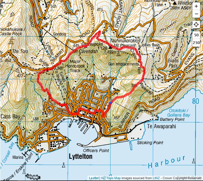 Urumau-Crater Rim Circuit Route Map