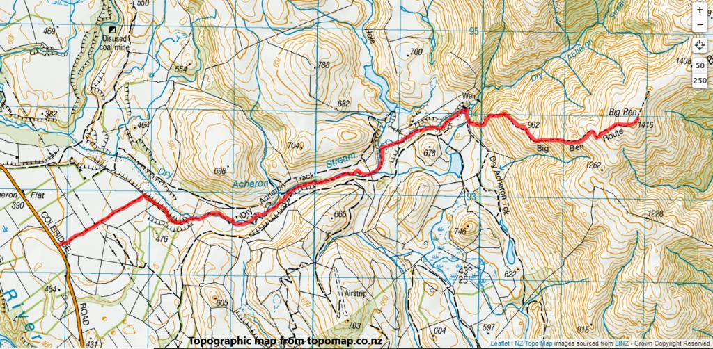Big Ben via Dry Acheron Stream, Korowai/Torlesse Tussocklands Park