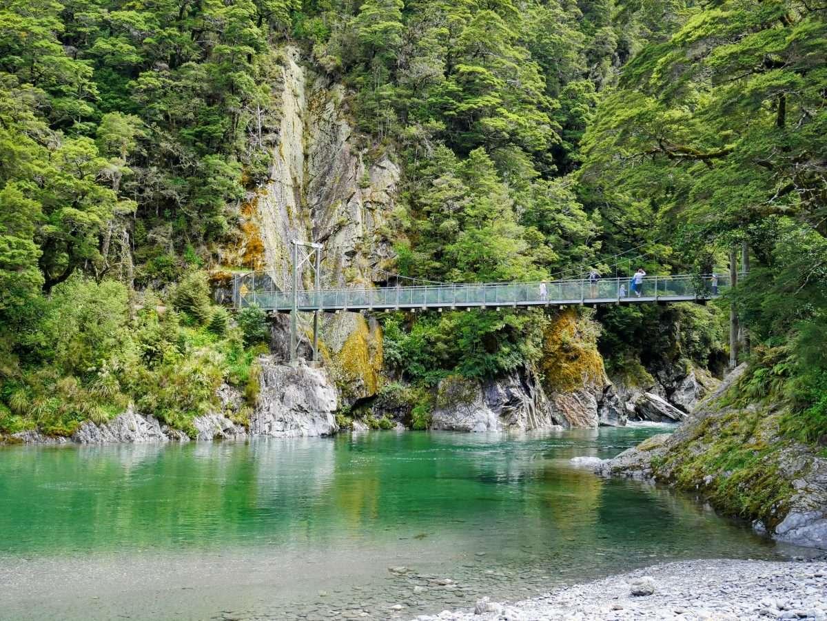 Blue Pools Walk, Mt Aspiring National Park NZ