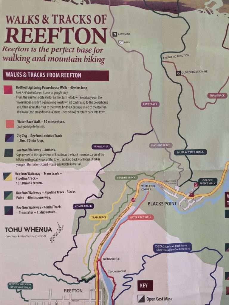 Pipeline & Tram Tracks plus Powerhouse Walk, Reefton