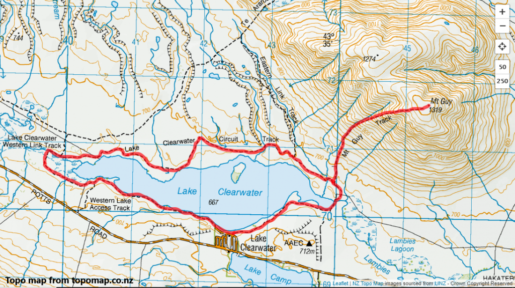 Mt Guy & Lake Clearwater Circuit Track